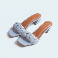 """NEW IN : Say hello to new member family """"Haura"""" Color : light blue Made of nappa genuine leather Genuine leather lining Braided style made from fabric material 40 mm heel height _ Shop only at : 🛒 tokopedia.com/vaia-official 📩 Contact@vaia.co.id __ #myVAIA #walkwithVAIA #VAIAlady #genuineleather #localbrand #localbrandid #premiumquality #leatherwork #leathergoods #indonesianleathergood #shoes #fashionblogger #blogger #bloggerstyle #embelishedshoes #embelishedshoes"""